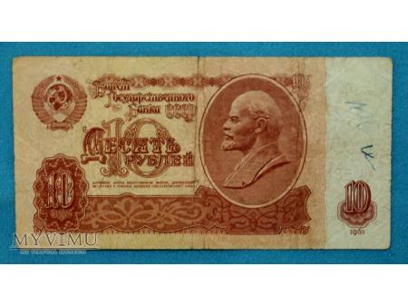 10 Rubli z 1961