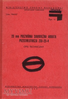 ZSU-23-4. Opis techniczny z 1969 r.