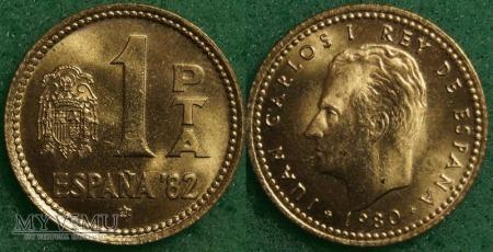 Hiszpania, 1 Peseta 1980
