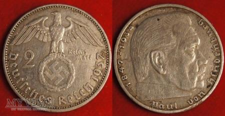 Niemcy, 1937, 2 reichsmarki