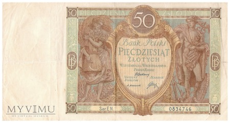 Polska - 50 złotych (1929)