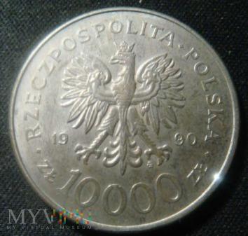 10000 zł 1990 r. - Solidarność 1980-1990