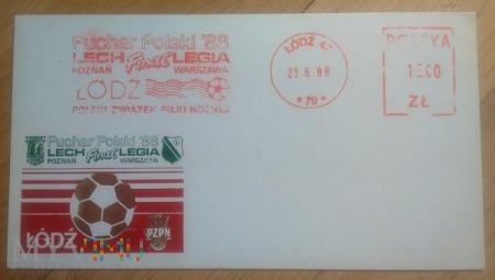 Duże zdjęcie Koperta Legia Warszawa - Puchar Polski 1988