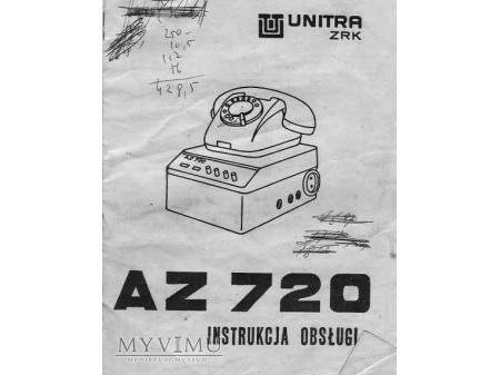 Polski telefoniczny automat zgłoszeniowy AZ-720.