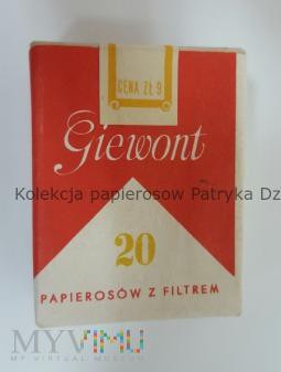 Papierosy GIEWONT 1981 rok cena 9 zł