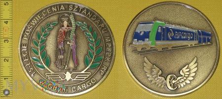 Medal kolejowy - związkowy MZZPK RP CARGO w Gdyni
