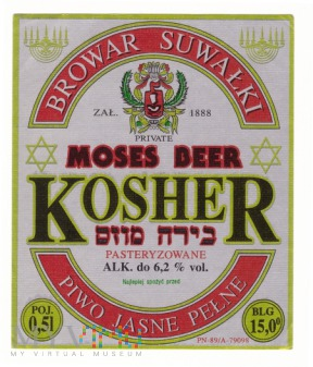 Kosher, moses beer