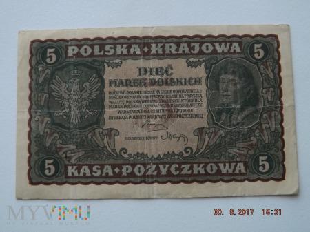 Pięć Marek Polskich 1919r.