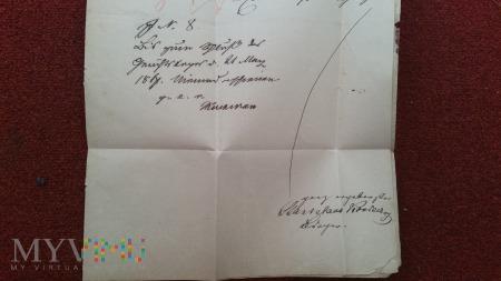 PISMO SULMIERZYCE - OSTROWO 1867