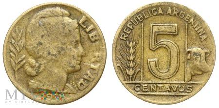 Argentyna, 5 centavos 1948