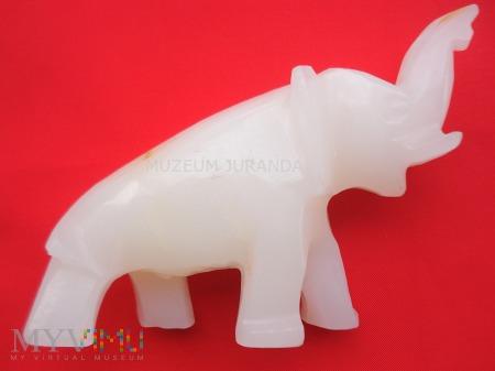 Duże zdjęcie Alabastrowy słoń