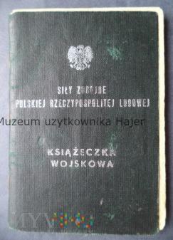 Książeczka wojskowa JW 2457 62 KS Bolesławiec