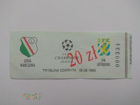 Duże zdjęcie Legia Warszawa - IFK Goeteborg el. LM 1995