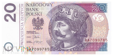 Polska - 20 złotych (2012)