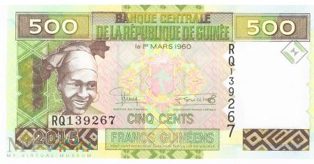 Gwinea - 500 franków (2015)