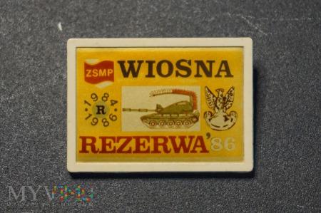Odznaka Rezerwy Wiosna 84/86
