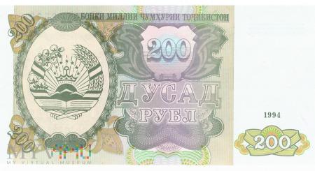 Tadżykistan - 200 rubli (1994)