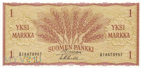 Finlandia - 1 marka (1963)