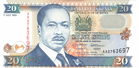 Duże zdjęcie Kenia - 20 szylingów (1995)