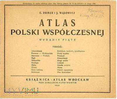 Duże zdjęcie Atlas Polski Współczesnej, 1951