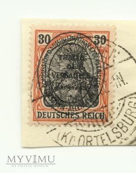30 pfennig Schwentainen 1920 - plebiscyt