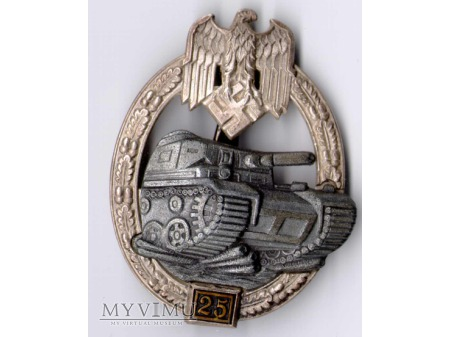 Panzer Kampf Abzeichen in Silber 25