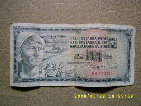 1000 dinarów.