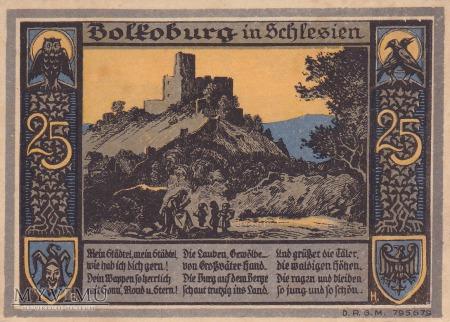 Notgeld Bolkenhain in Schlesien 25 Pfg.
