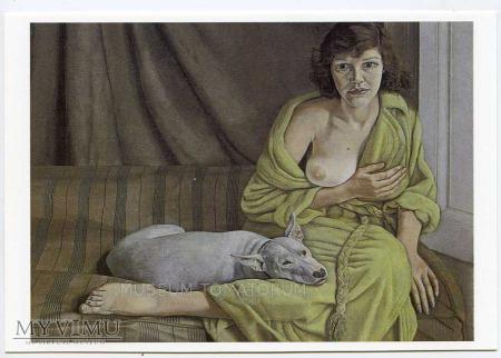 Freud - Dziewczyna z psem - Akt z psem