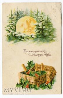 1938 Nowy Rok szampan w skrzynce