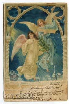 1901 Anioły nad miastem NOWY ROK Będzin Łódź
