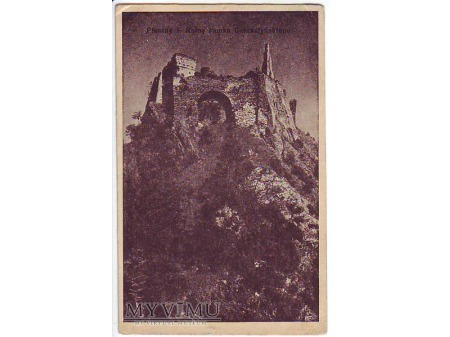Pieniny - Ruiny zamku Czorsztyńskiego