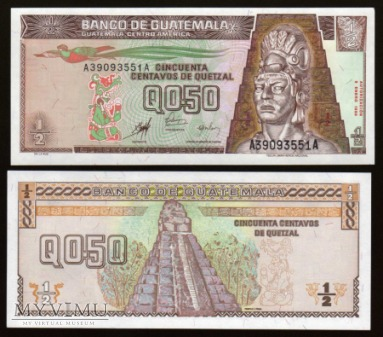 Guatemala - P 98 - 1/2 Quetzal - 1998