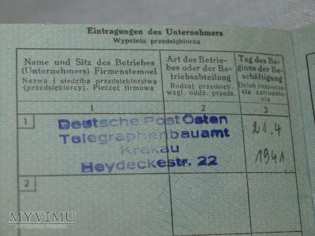 Karta pracy - Arbeitskarte