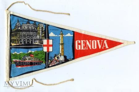 Proporczyk souvenir - Włochy Genua 1963