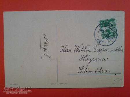 Szwedzki krasnal na Nowy Rok 1936 Skrzat choinka