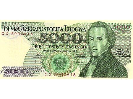 5000 Złotych 01.12.1988 r.