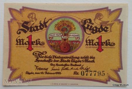 1MARK 1921 NOTGELD