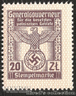 Stempelmarke 20 złotych - I emisja
