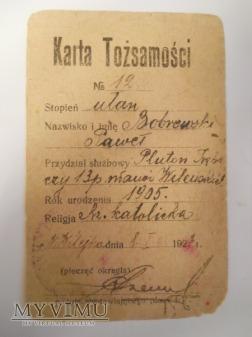 Karta Tożsamości 13 Pułku Ułanów Wileńskich