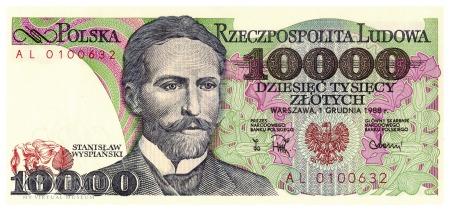 Polska - 10 000 złotych (1988)