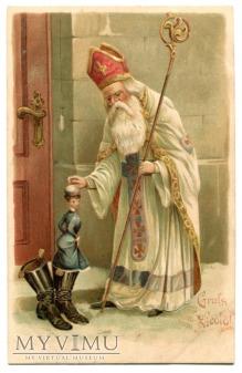 Święty Mikołaj Pocztówka