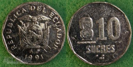 Ekwador, 10 Sucres 1991