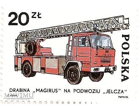 Drabina Magirus na podwoziu Jelcz