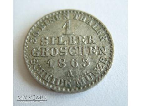 30 EINEN THALER - 1 SILBER GROSCHEN (1863)