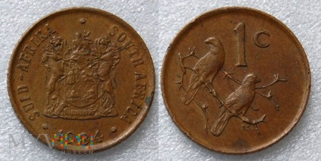 South Africa, 1 cent 1984