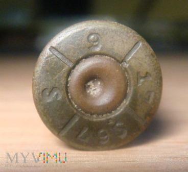 Elaborowana łuska 7,92x57 Mauser 1917r.