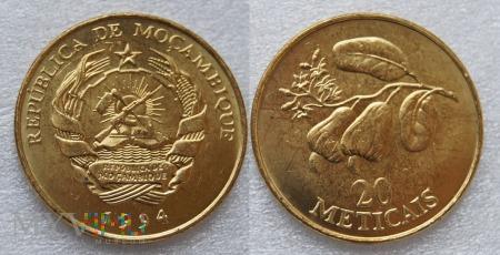 Mozambik, 20 Meticais 1994