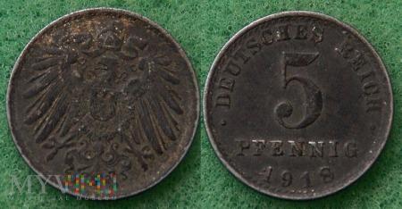 Niemcy, 1918, 5 Pfennig
