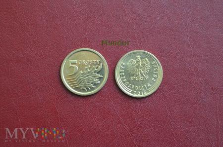 Moneta: 5 groszy od 2014r.